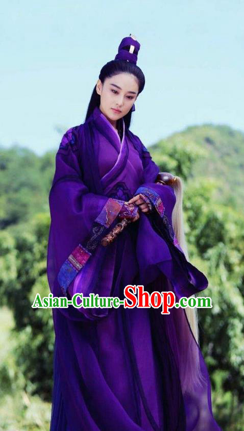 Traditional Ancient Chinese Taoist Nun Costume, Chinese Taoist Dress, Chinese Peri Magic Princess Hanfu Embroidered Clothing for Women