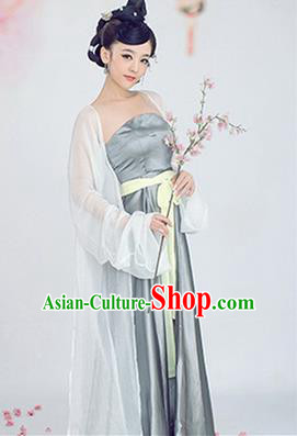 Traditional Ancient Chinese Imperial Emperess Costume, Chinese Tang Dynasty Dance Dress, Chinese Peri Imperial Lady Hanfu Clothing for Women