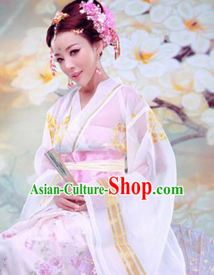 Traditional Ancient Chinese Imperial Consort Costume, Chinese Han Dynasty Lady Dress, Cosplay Chinese Imperial Concubine Clothing Hanfu for Women