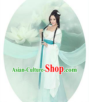 Traditional Ancient Chinese Imperial Princess Costume, Chinese Tang Dynasty Young Lady Dress, Cosplay Chinese Peri Princess Embroidered Hanfu Clothing for Women