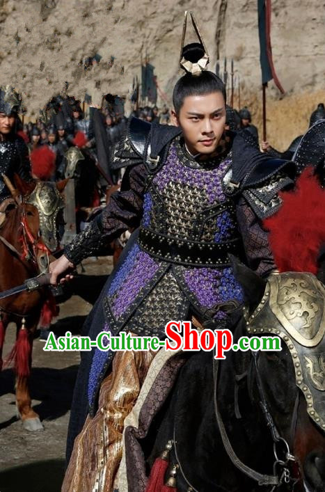 Traditional Ancient Chinese Nobility Childe Costume, Elegant Hanfu Western Wei Dynasty Swordsman Corselet General Clothing, Chinese Northern Dynasties Aristocratic Strategos Armour Clothing for Men