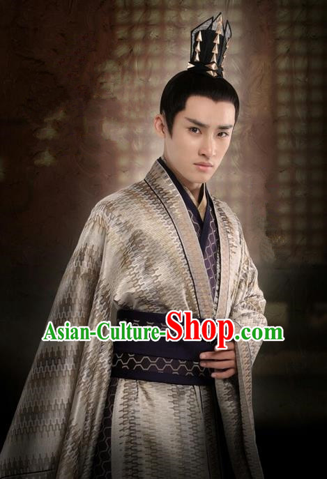 Traditional Ancient Chinese Nobility Childe Costume, Elegant Hanfu Western Wei Dynasty Prince Clothing, Chinese Northern Dynasties Aristocratic Prince Embroidered Clothing for Men