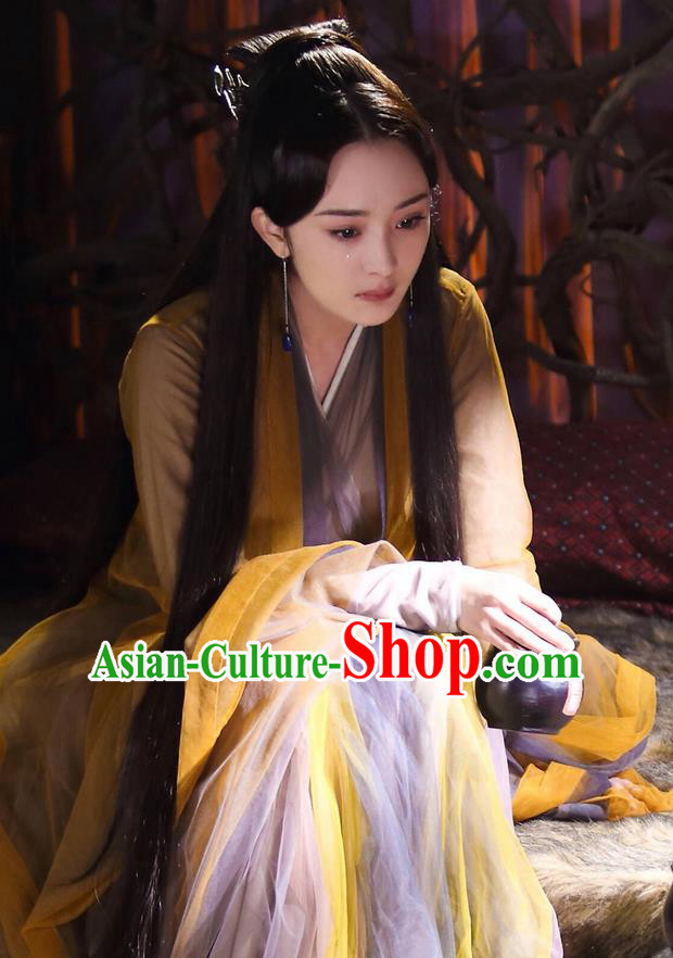 Traditional Chinese Ancient Fairy Costume, Hanfu Imperial Princess Dress, China Cosplay Palace Princess Tailing Elegant Clothing for Women