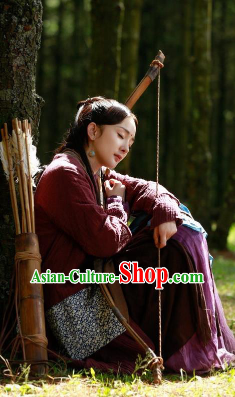 Traditional Chinese Ancient Fairy Costume, Hanfu Village Female Dress, China Cosplay Swordsman Clothing for Women