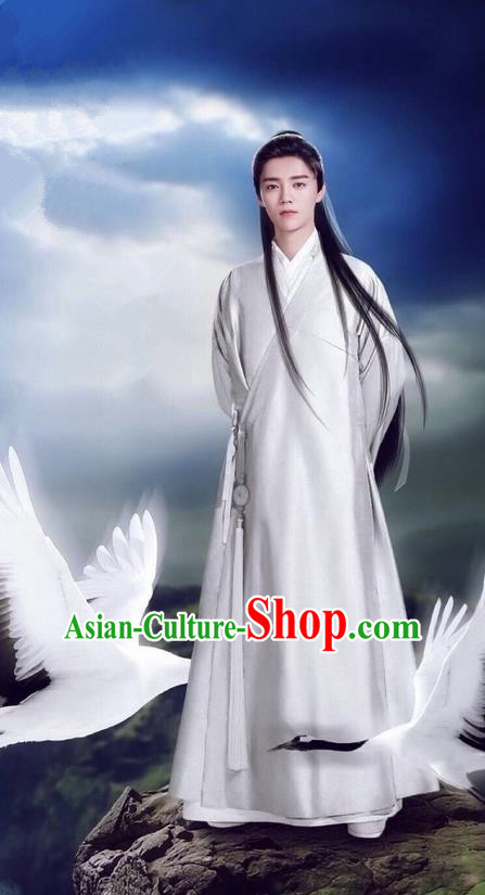 Traditional Ancient Chinese Nobility Childe Costume, Elegant Hanfu Male Aristocrat Dress, Cosplay China Swordsman Clothing for Men