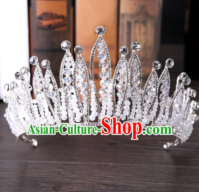 Top Grade Handmade Classical Hair Accessories, Children Baroque Style Crystal Princess Royal Crown Wedding Hair Jewellery Hair Clasp for Kids Girls