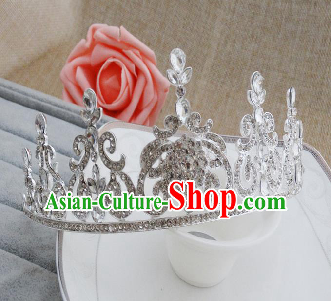 Top Grade Handmade Classical Hair Accessories, Children Baroque Style Crystal Royal Crown Princess Wedding Hair Jewellery Hair Clasp for Kids Girls