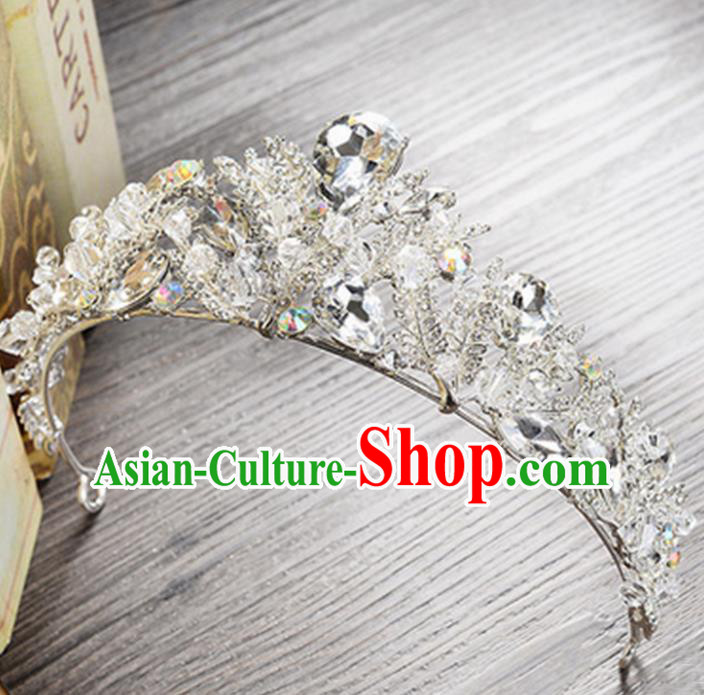 Top Grade Handmade Classical Hair Jewelry Accessories, Children Baroque Style Crystal Baby Princess Royal Crown Hair Clasp Jewellery for Kids Girls
