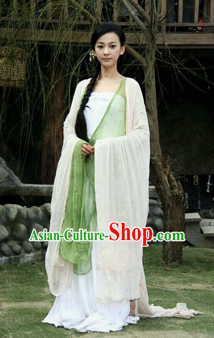 Traditional Ancient Chinese Tang Dynasty Female Costume and Handmade Headpiece Complete Set, Chinese Ancient Young Lady Princess Imperial Consort Hanfu Clothing for Women