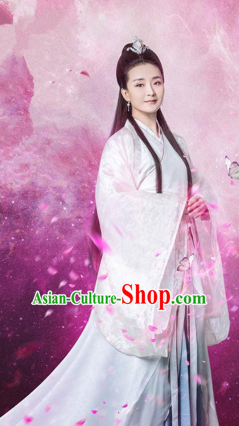 Traditional Chinese Ancient Imperial Princess Costume, Chinese Teleplay Flower Shabana Flyings Sky Song Dynasty Young Lady Clothing and Headpiece Complete Set for Women