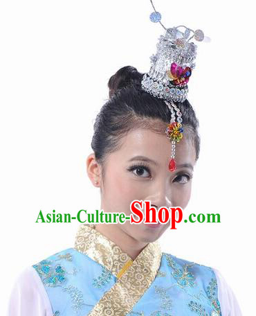 Traditional Chinese Korean Nationality Dance Headwear, Chinese Minority Nationality Folk Dancing Headpiece for Women