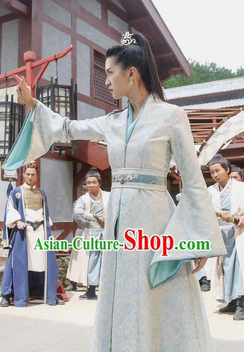 Asian Chinese Ancient Tang Dynasty Female General Costume and Headwear, Fighter of the Destiny Traditional Chinese Ancient Officials Clothing Complete Set for Woman