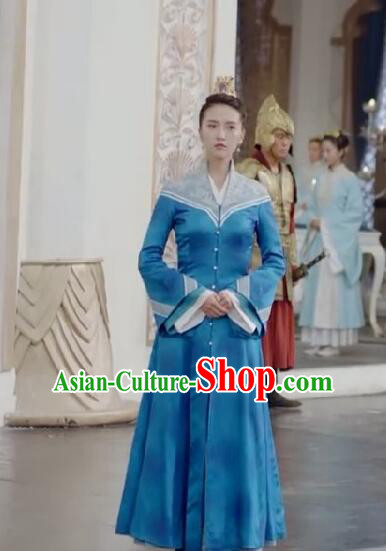 Chinese Ancient Tang Dynasty Female Officials Costume and Headwear Complete Set, Fighter of the Destiny Traditional Chinese Ancient Palace Lady Clothing for Women