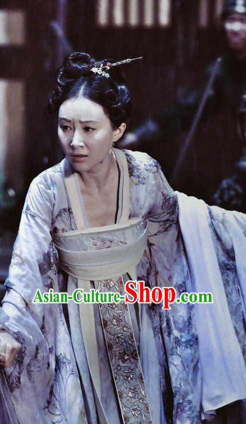 Traditional Chinese Ancient Princess Concubine Costumes and Handmade Headpiece Complete Set, The Glory of Tang Dynasty Palace Lady Trailing Dress Clothing for Women