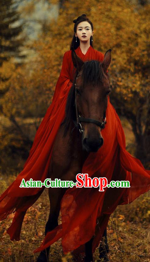 Traditional Chinese Ancient Shang Dynasty Princess Costume and Headwear, China Mythology Television Zhao Ge Ancient Swordsman Clothing Complete Set for Women
