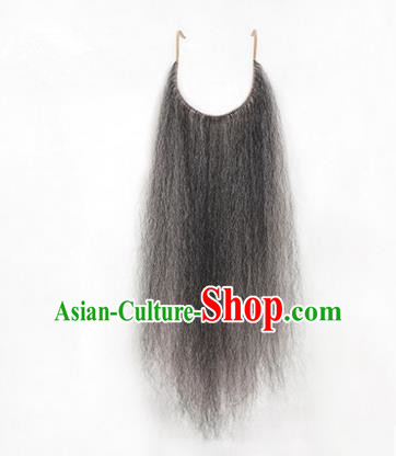 Chinese Ancient Opera Old Men Grizzled Long Wig Beard, Traditional Chinese Beijing Opera Props False Beard Laosheng-role Mustache