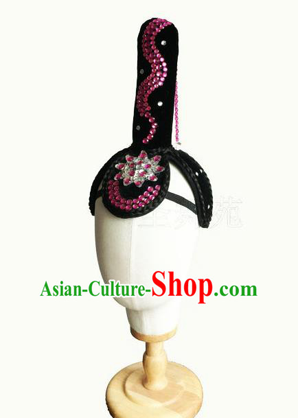Traditional Chinese Peking Opera Hair Accessories and Wigs, China Ancient Classical Flying Dance Handmade Wig for Women
