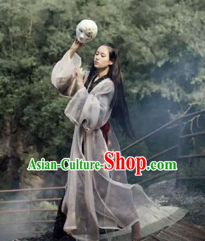 Traditional Chinese Ancient Jin Dynasty Noble Lady Costumes, China Princess Hanfu Embroidered Wide-sleeve Cardigan Blouse and Ru Skirt Complete Set for Women