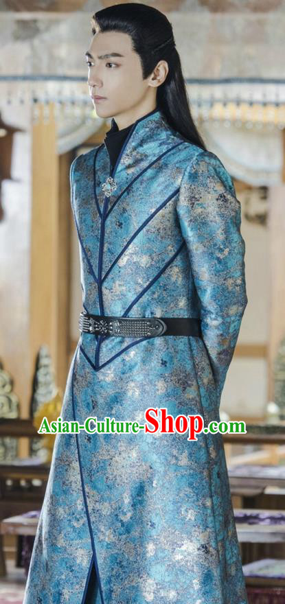 Traditional Ancient Chinese Imperial Prince Costume, A Life Time Love Chinese Nobility Childe Clothing and Handmade Headpiece Complete Set for Men