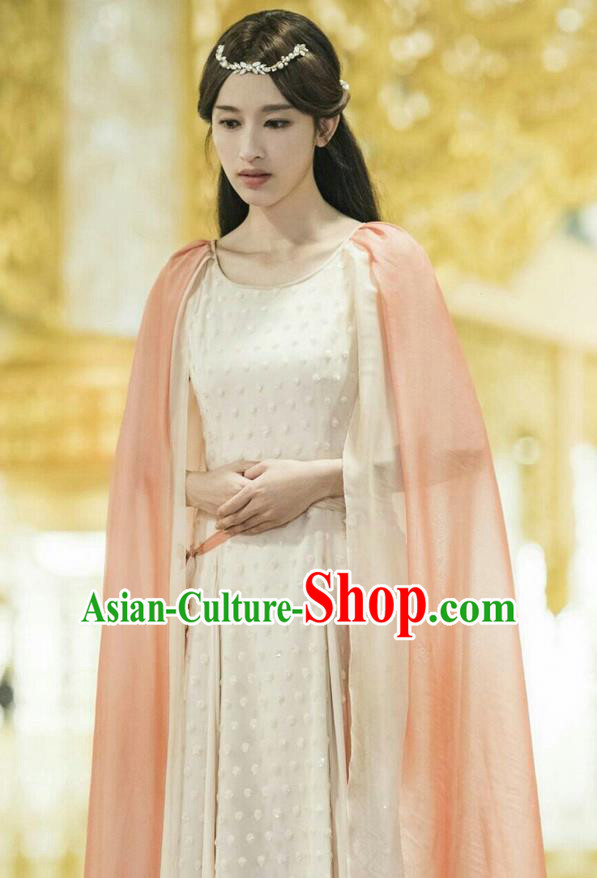 Traditional Ancient Chinese Imperial Princess Costume, A Life Time Love Chinese Nobility Lady Clothing and Handmade Headpiece Complete Set for Women