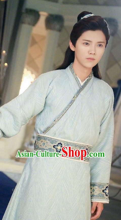 Traditional Ancient Chinese Tang Dynasty Scholar Costume, Fighter of the Destiny Young Men Intellectual Clothing Childe Dress