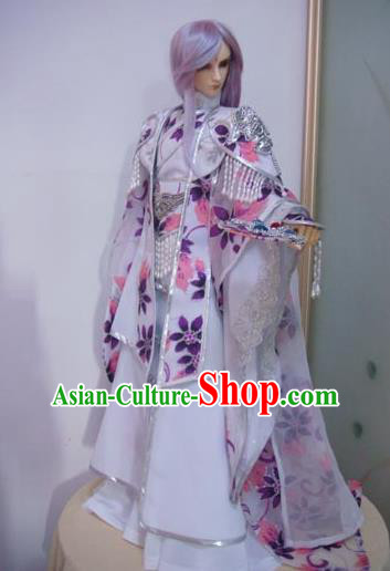 Traditional Ancient Swordsman Prince Costumes Complete Set, China Ancient Cosplay Chivalrous Expert Outfit for Men for Kids