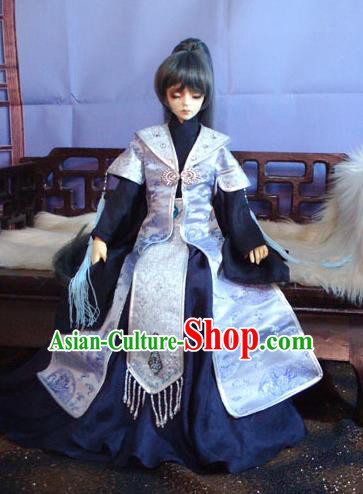 Traditional Ancient Royal Highness Costumes Complete Set, China Ancient Cosplay Swordsman Clothing Chivalrous Expert Robe for Men for Kids