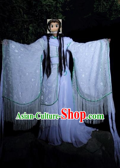 Top Grade Traditional China Ancient Cosplay Princess Costumes, China Ancient Young Lady Peri Wide Sleeve Hanfu Dress Clothing for Women