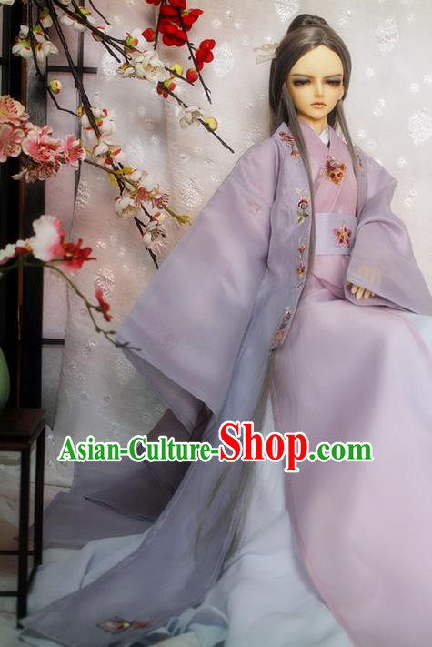 Top Grade Traditional China Ancient Cosplay Nobility Childe Costumes, China Ancient Han Dynasty Swordsman Knight-Errant Clothing for Men for Kids