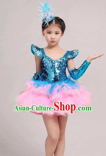 061cb33d9 Top Grade Princess Dress Girls Stage Performance Chorus Costumes Red ...