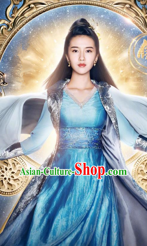 Traditional Ancient Chinese Female Officials Costume and Handmade Headpiece Complete Set, Chinese Ancient Imperial Princess Embroidered Dress Clothing for Women
