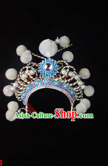 Traditional Chinese Ancient Peking Opera Accessories Madam White Snake Hua tan Hat, Traditional Chinese Beijing Opera Young Lady Diva Headwear