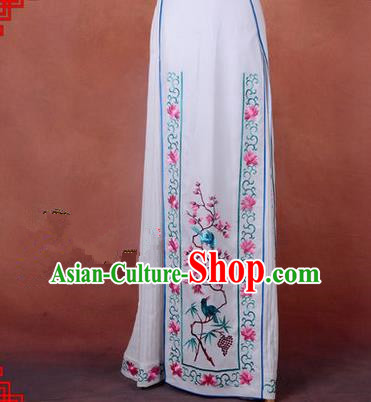 Traditional Chinese Beijing Opera Servant Girl Dress, China Peking Opera Young Lady Costume Embroidered Opera Skirt