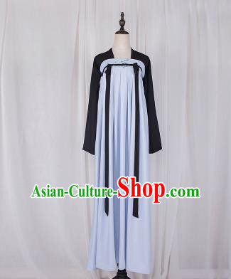 Traditional Chinese Tang Dynasty Palace Princess Costume, Elegant Hanfu Clothing Embroidered Blue Ru Dress, Chinese Ancient Princess Clothing for Women