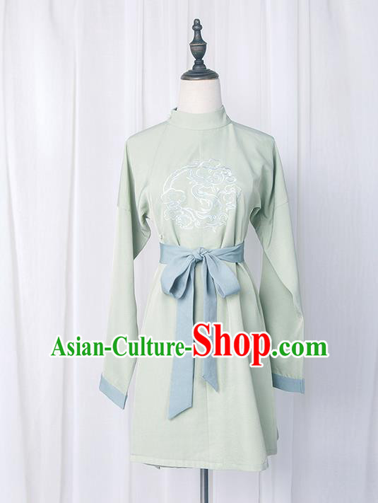 Traditional Chinese Ming Dynasty Young Lady Costume, Elegant Hanfu Clothing Embroidered Robe, Chinese Ancient Imperial Bodyguard Clothing for Women