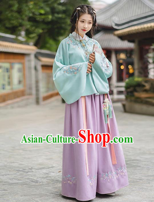 Traditional Chinese Han Dynasty Palace Princess Costume, Elegant Hanfu Clothing Embroidered Middle Skirt, Chinese Ancient Princess Clothing for Women