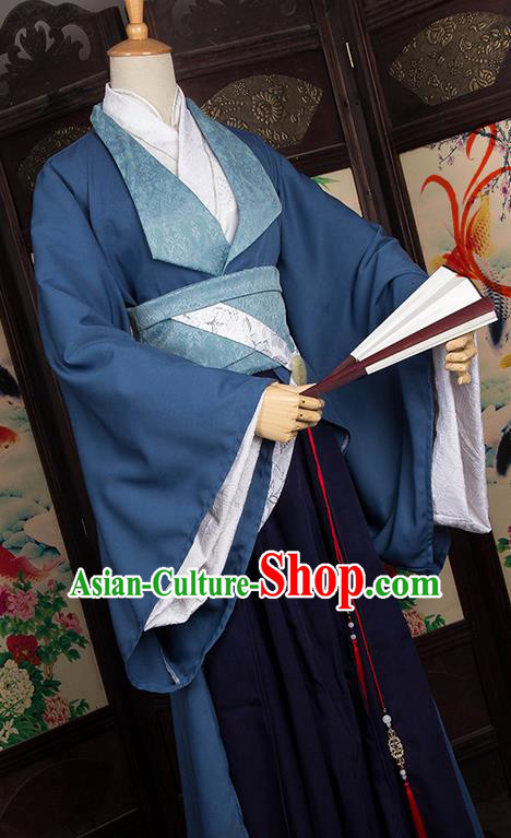 Traditional Chinese Tang Dynasty Nobility Childe Costume, Elegant Hanfu Cosplay Imperial Prince Clothing Ancient Chinese Dandies Dress for Men