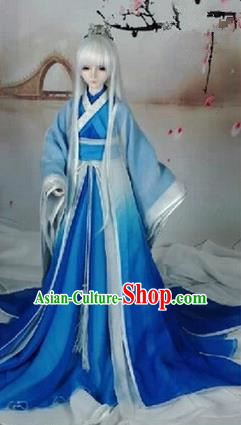 Traditional Chinese Super Dollfie Costume, Chinese Ancient Hanfu Jiang Hu Swordsman Clothing for Doll