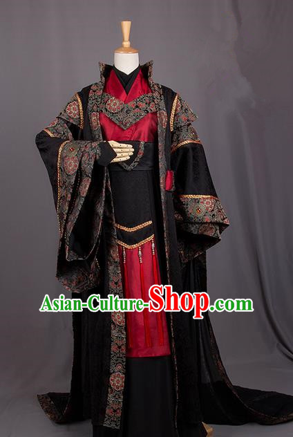 Traditional Chinese Tang Dynasty Imperial Prince Costume, Elegant Hanfu Cosplay Nobility Childe Clothing Ancient Chinese Royal Highness Dress for Men