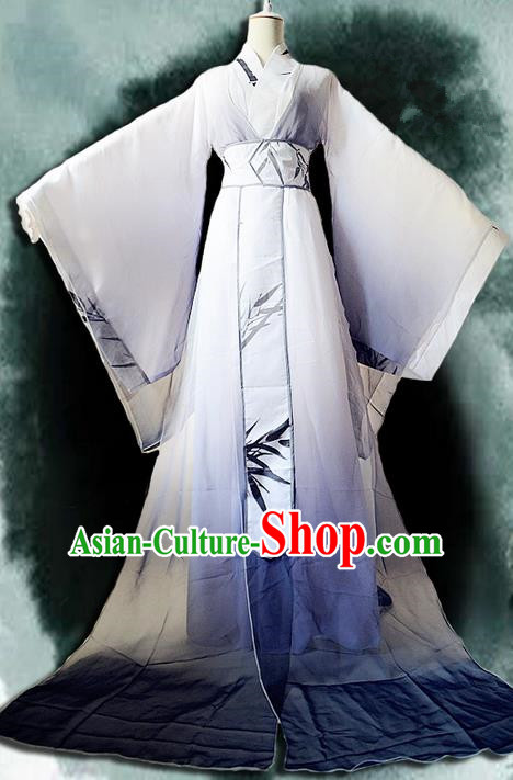 Traditional Chinese Cosplay Nobility Childe Costume, Chinese Ancient Hanfu Han Dynasty Imperial Prince Dress Clothing for Men