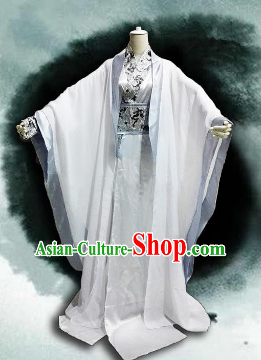 Traditional Chinese Cosplay Nobility Childe Costume, Chinese Ancient Hanfu Han Dynasty Young Swordsman Dress Clothing for Men