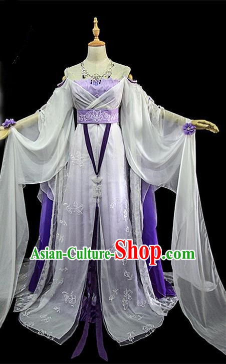 Traditional Ancient Chinese Female Embroidered Costume, Chinese Han Dynasty Imperial Fairy Dress Hanfu Clothing for Women