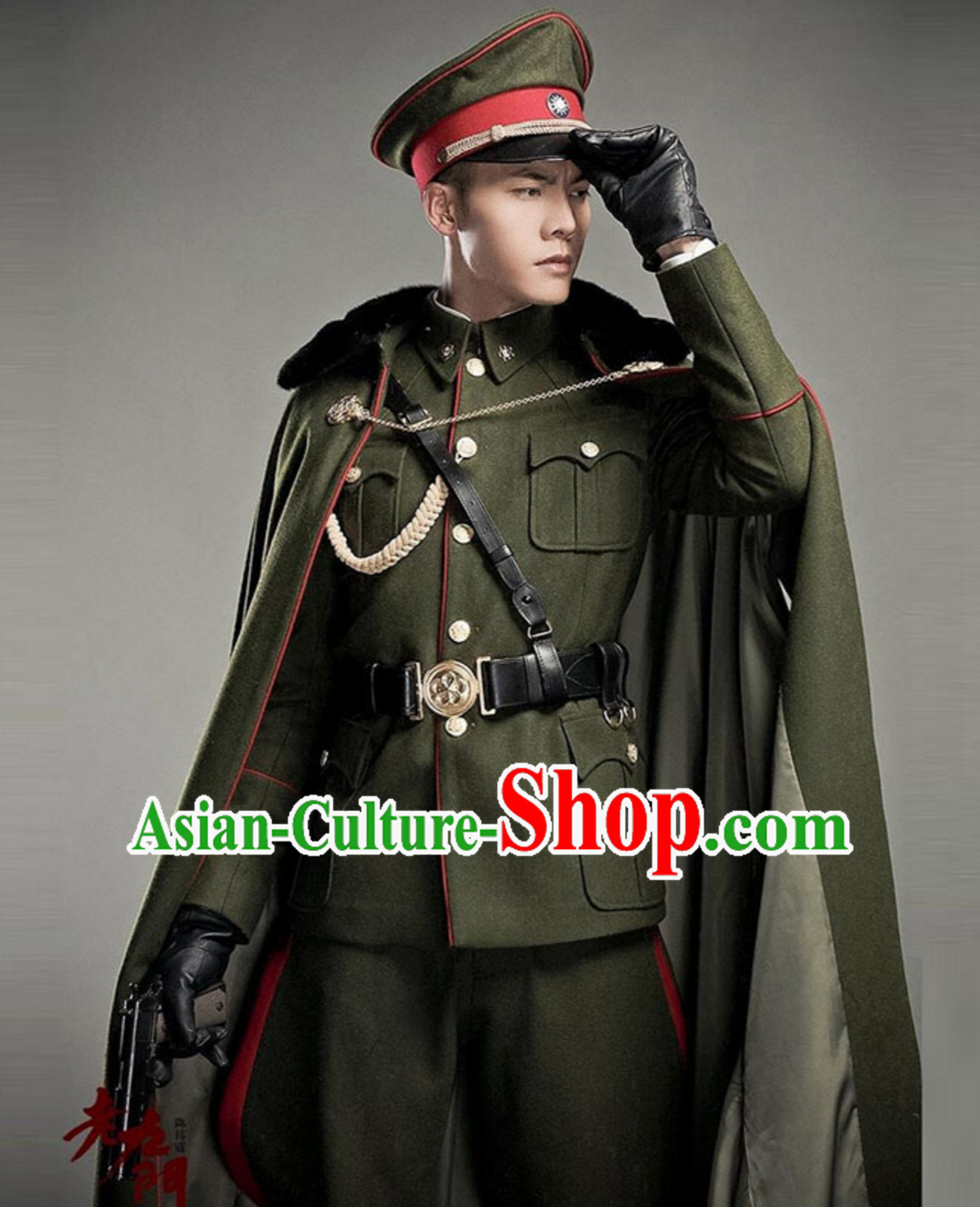 The Mystic Nine Tutorabc Fo Ye TV Drama Series Costumes Mantle Hat Complete Set for Men