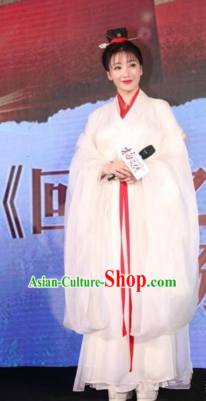 Traditional Ancient Chinese Nobility Lady Dance Costume and Headpiece Complete Set, Chinese Jin Dynasty Imperial Princess Wide Sleeve Dress Clothing for Women