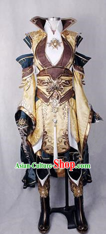 Asian Chinese Traditional Cospaly Customization Ming Dynasty Knight-errant Embroidered Costume, China Elegant Hanfu Swordswoman Female General Clothing for Women