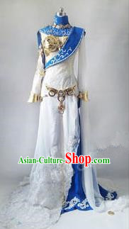 Asian Chinese Traditional Cospaly Costume Customization Princess Dress Costume, China Elegant Hanfu Swordsman Clothing for Women