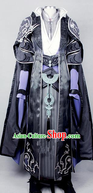 Asian Chinese Traditional Cospaly Costume Customization Kawaler Costume, China Elegant Hanfu Swordsman Clothing for Men