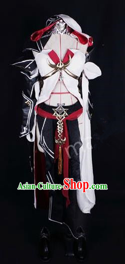 Asian Chinese Traditional Cospaly Costume Customization Female General Kawaler Costume, China Elegant Hanfu Swordsman Dress Clothing for Women