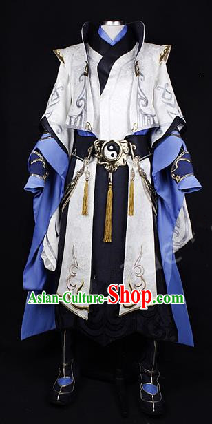 Asian Chinese Traditional Cospaly Costume Customization Prince Kawaler Costume, China Elegant Hanfu Swordsman Clothing for Men