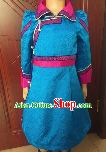 Traditional Chinese Mongol Nationality Dance Costume Handmade Mongolian Robe, China Mongolian Minority Nationality Dress for Women